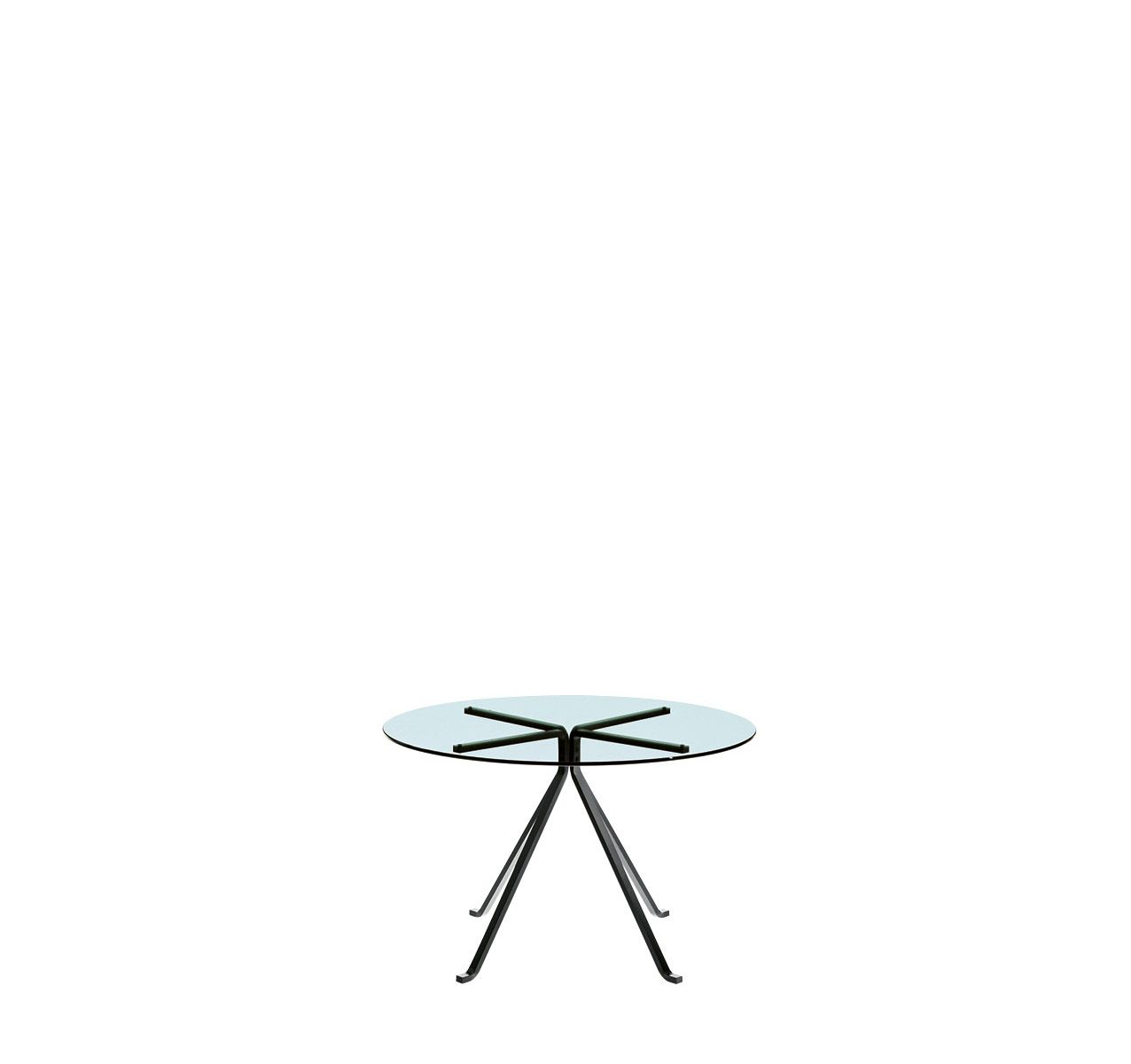 Cuginetto Round Table Round Tempered Glass