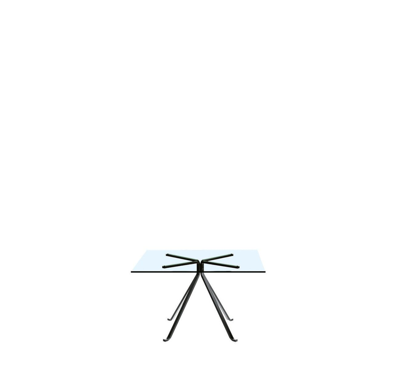 Cuginetto Square Table Square Tempered Glass