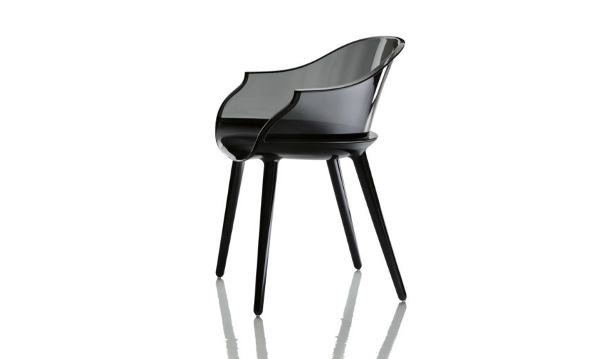 Cyborg Armchair Black Seat, Clear Back