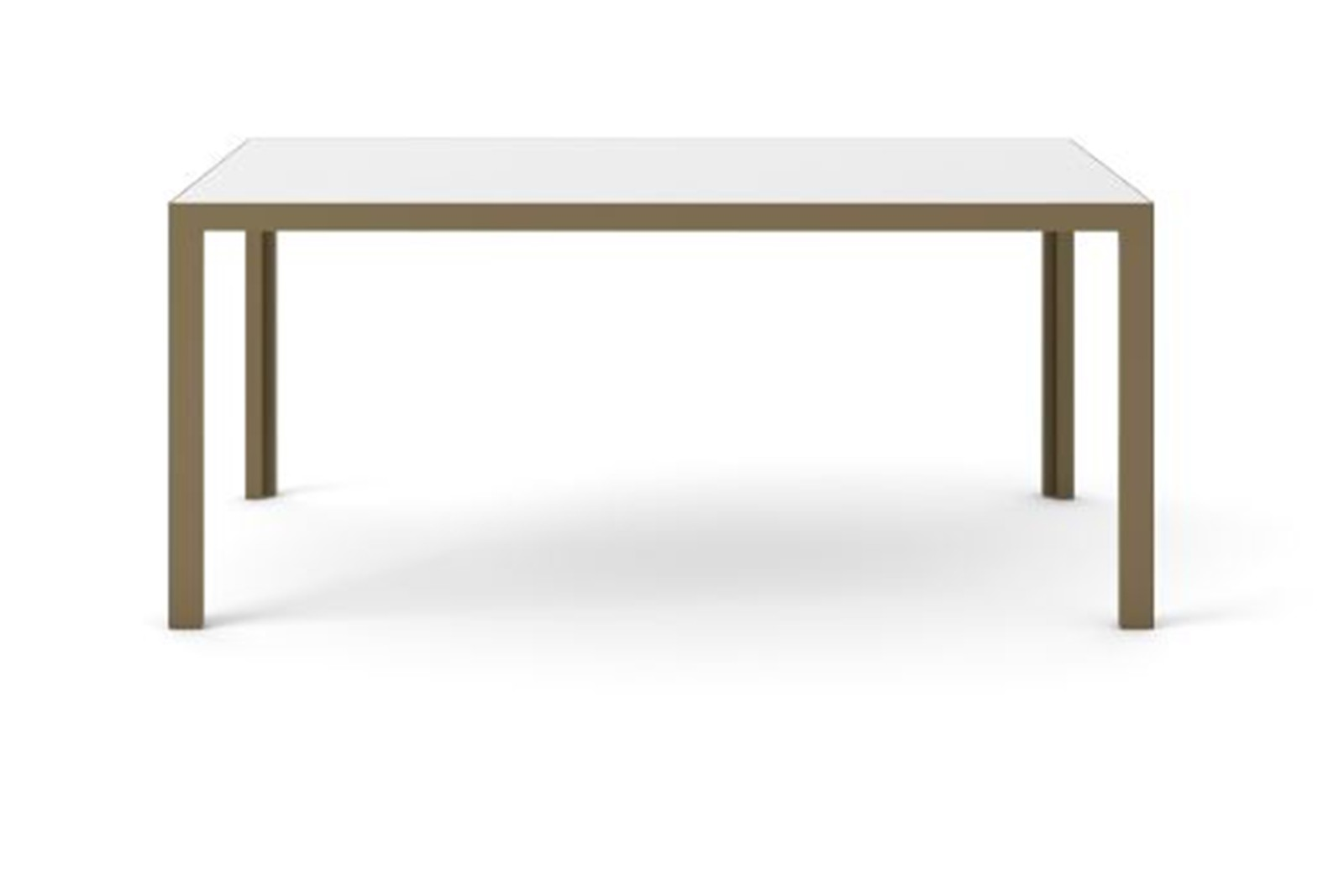 Dénia Dining Table, Rectangular Bronze Anodised Aluminium, White Open Pore Lacquered On Oak, 200