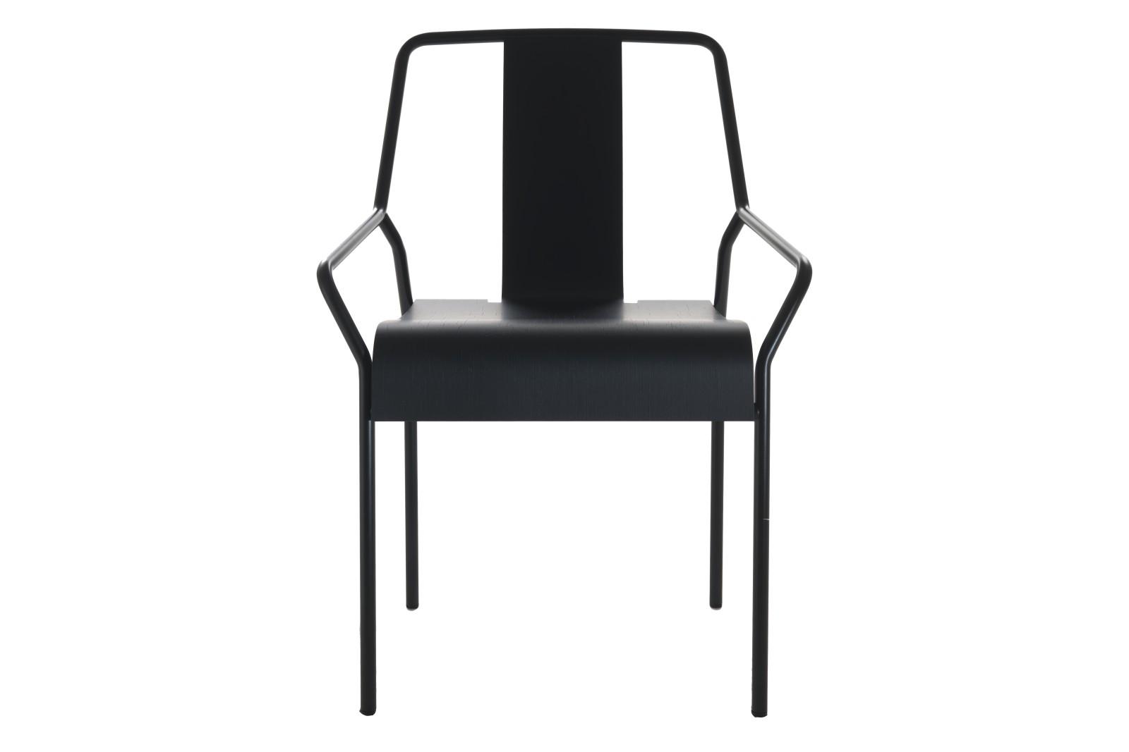 Dao Dining Chair Black Lacquered, Veneer Black Oak