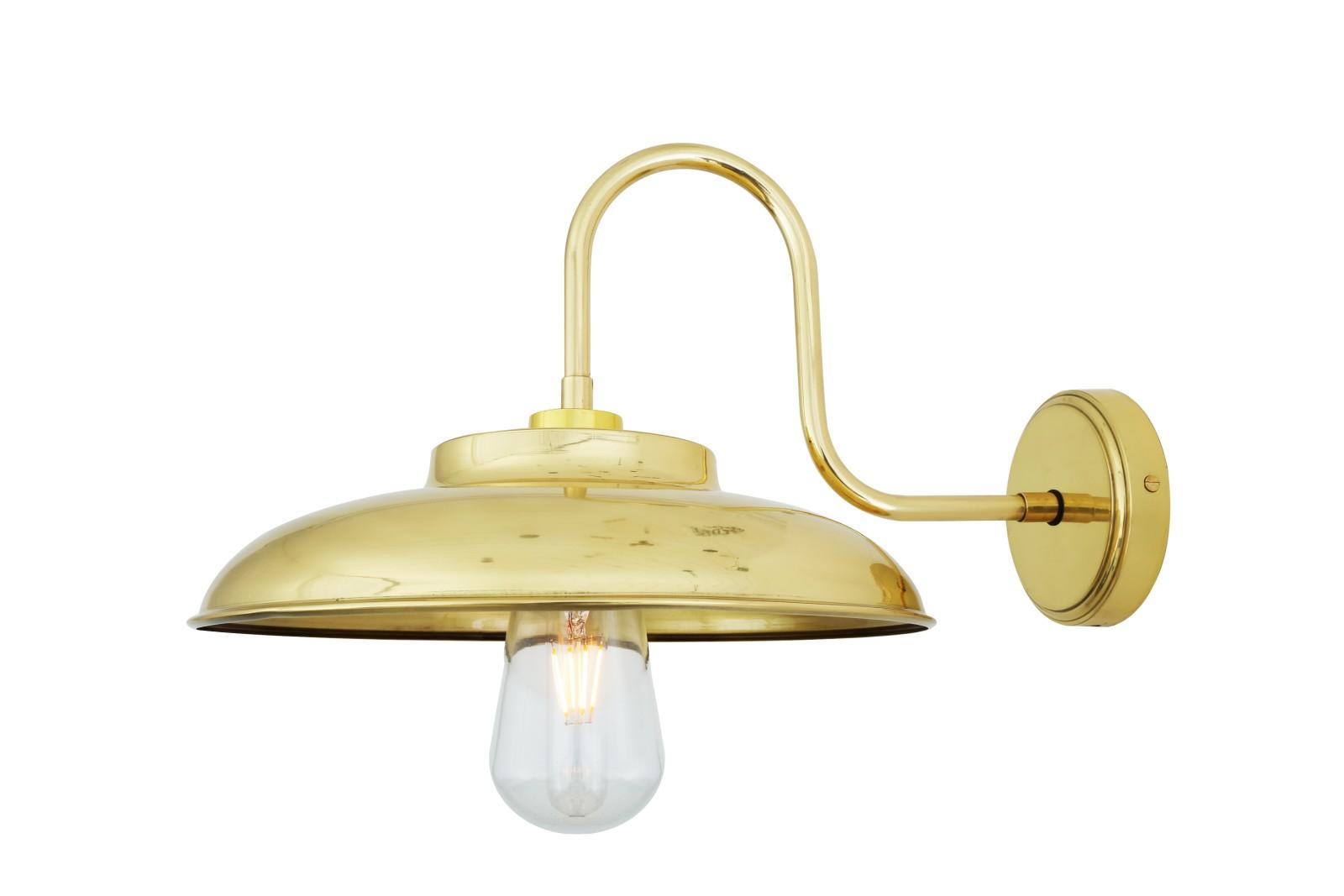 Darya Swan Neck Wall Light Polished Brass