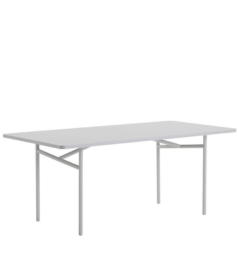 Diagonal Dining Table Grey