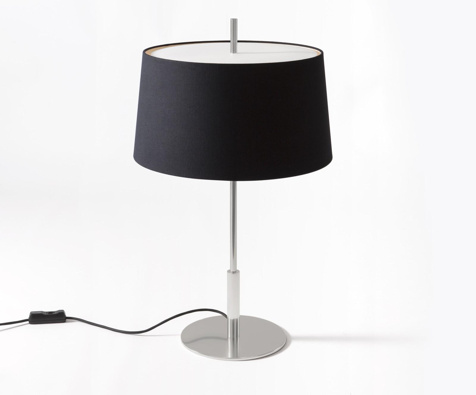 Diana Table Lamp Satin Nickel, Black