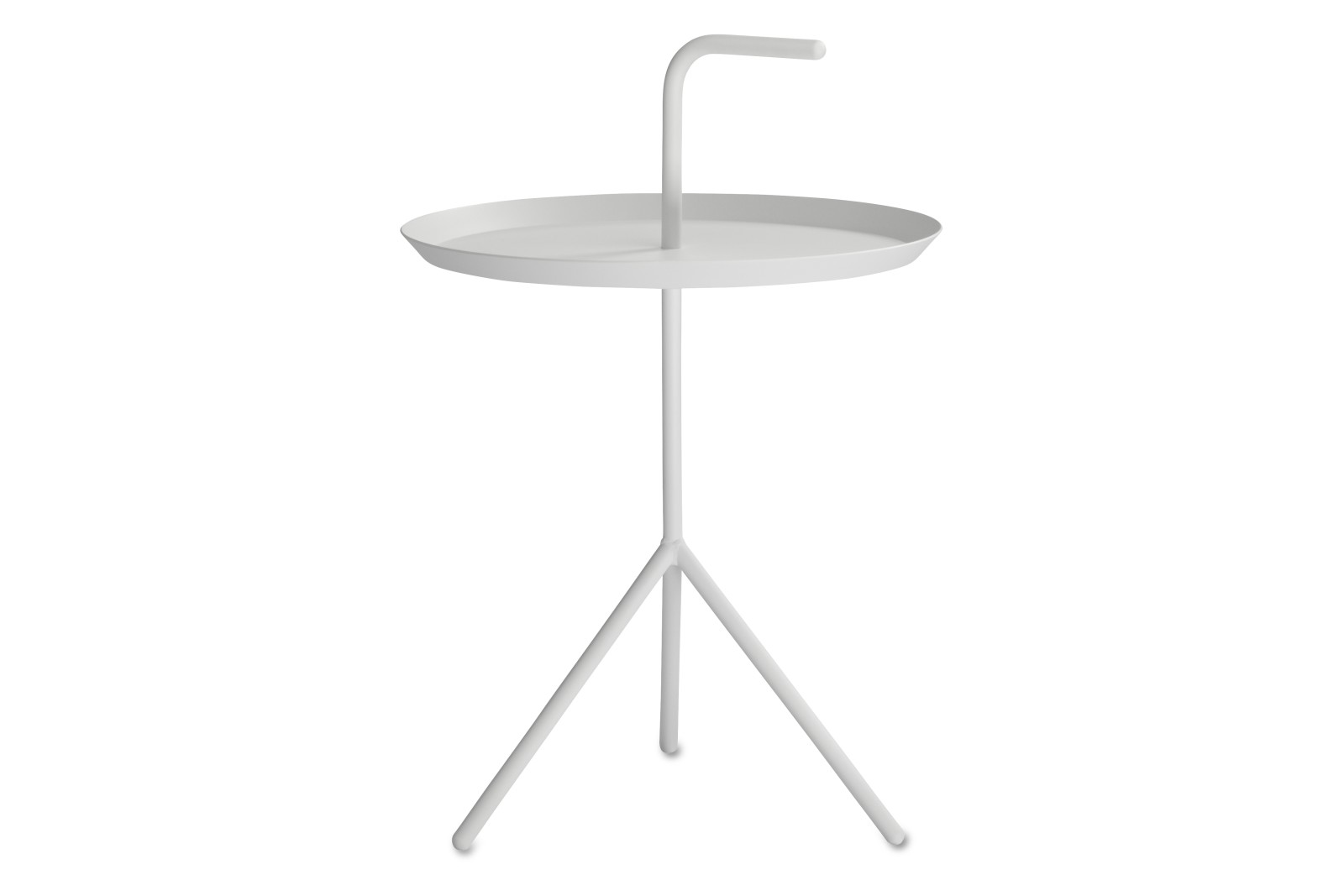 Don't Leave Me Side Table Metal White, Extra Large
