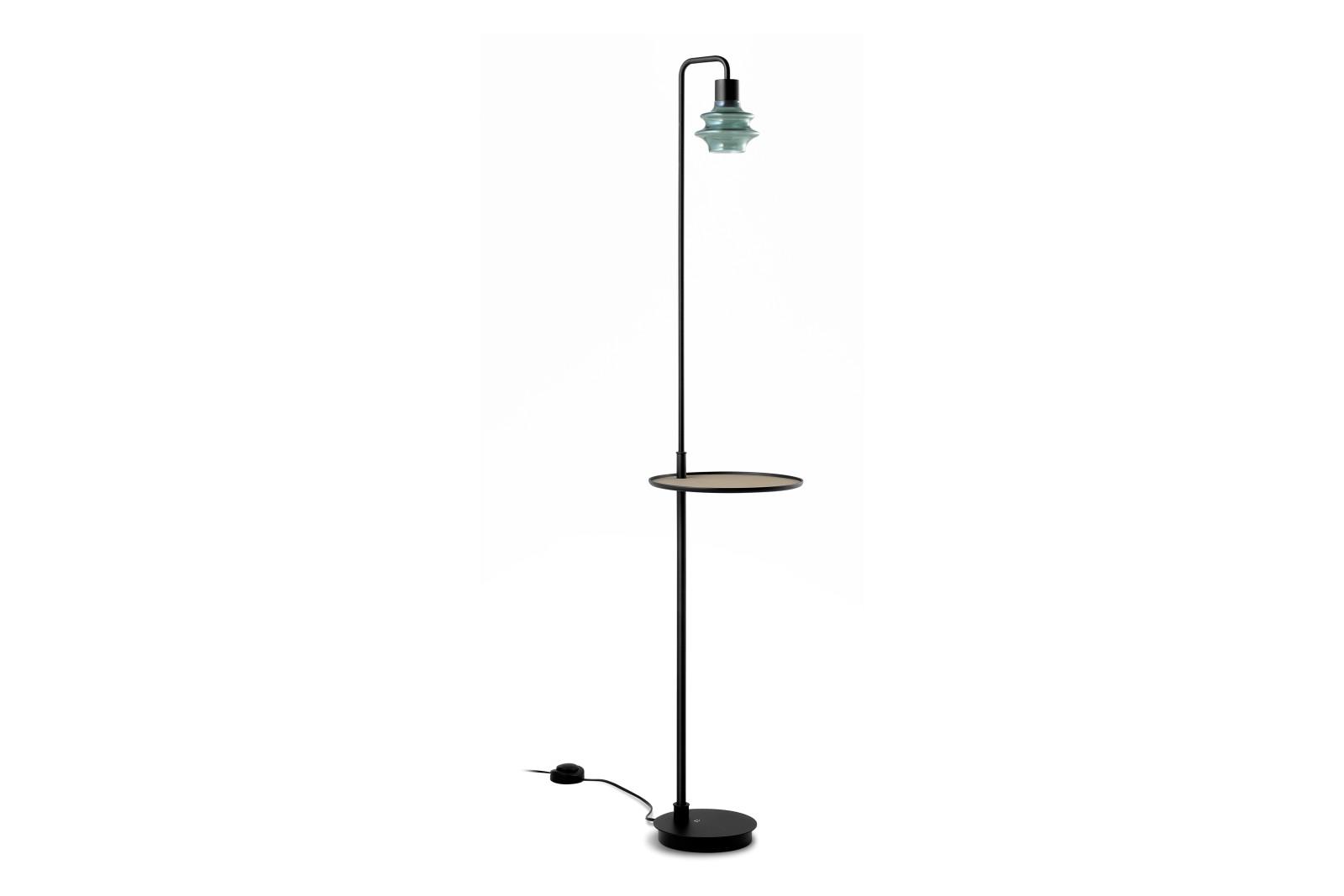 Drop P/131 Floor Lamp Drop Green Glass