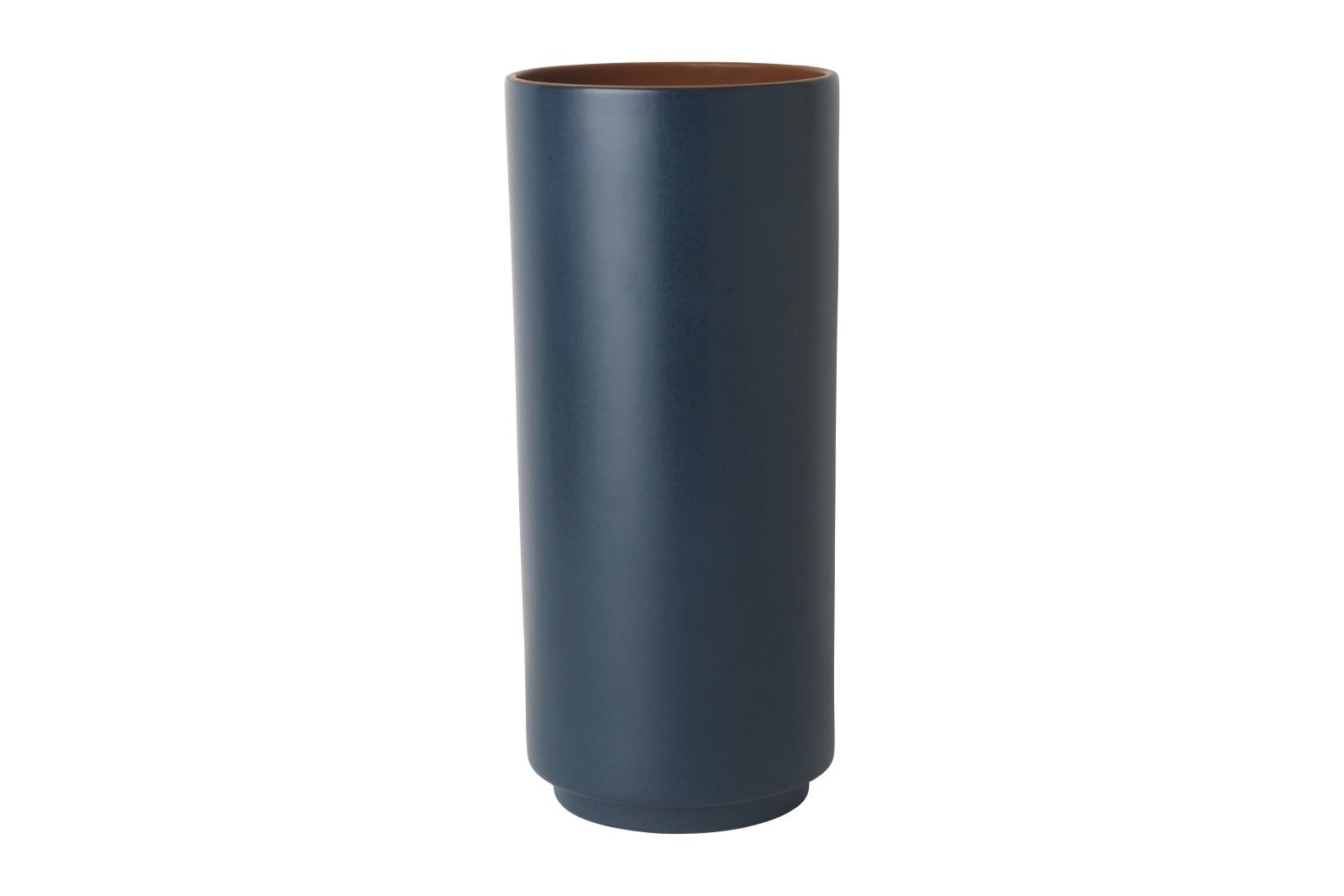 Dual Floor Vase - Set of 2 Dark Blue, Medium