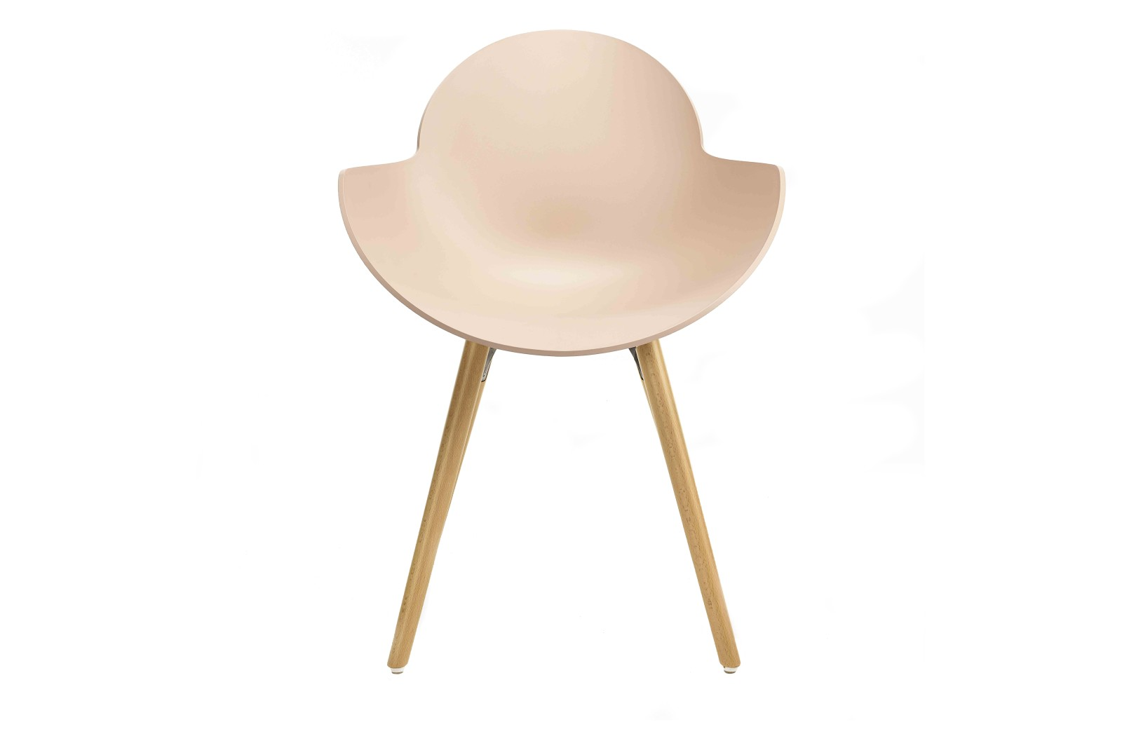Eclipse Curvaceous Chair Wooden Base Non-Upholstered Cipria