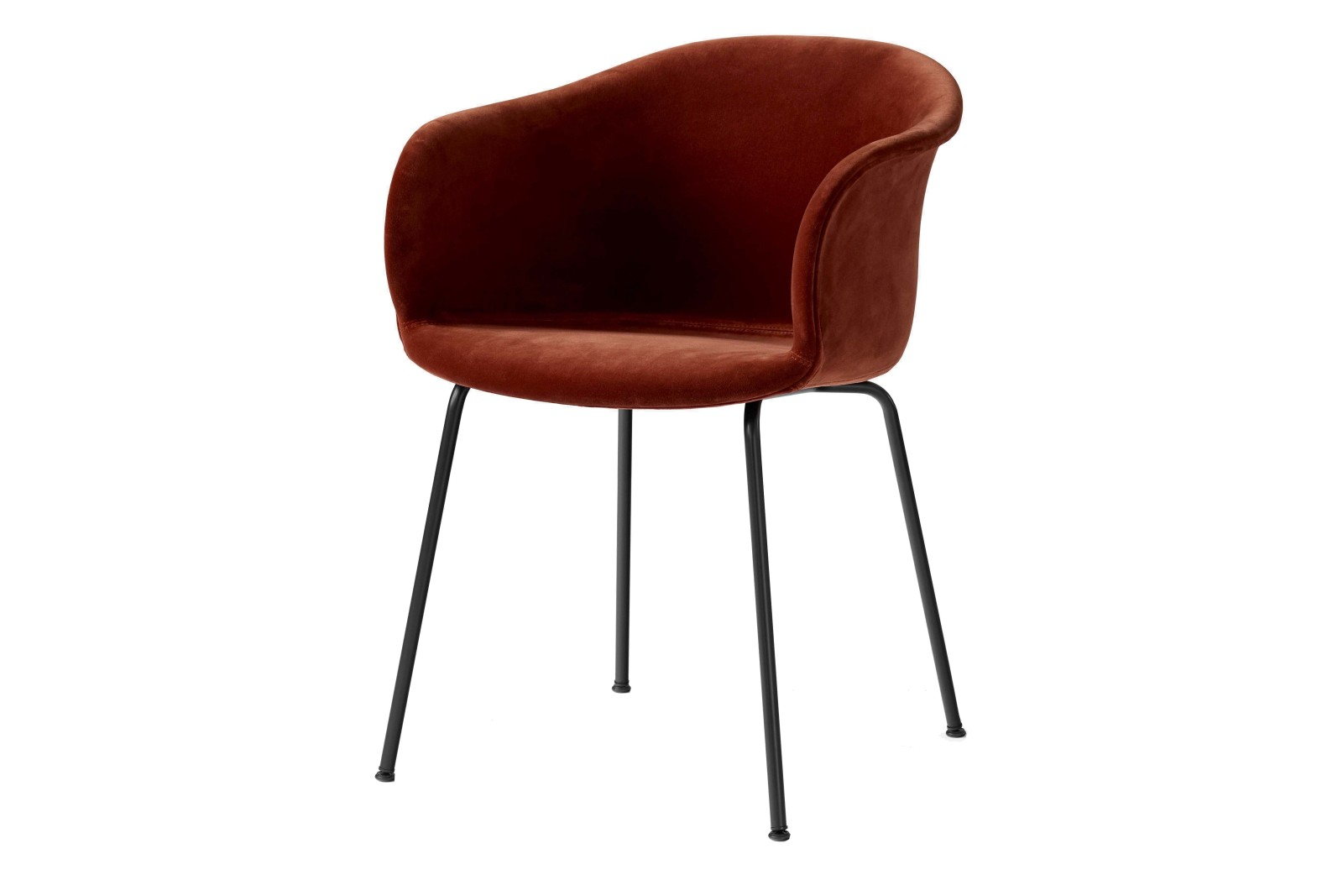 Elefy JH29 Dining Chair with Tube Base - Upholstered Lila, Black base