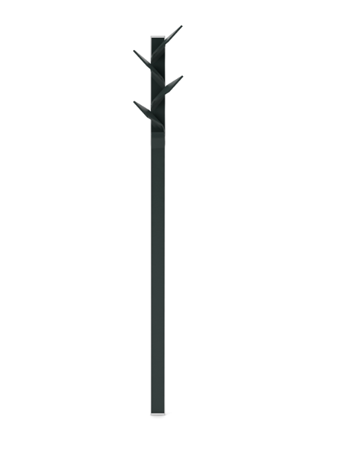 Elx Coat Hanger Anthracite Texturised Lacquered