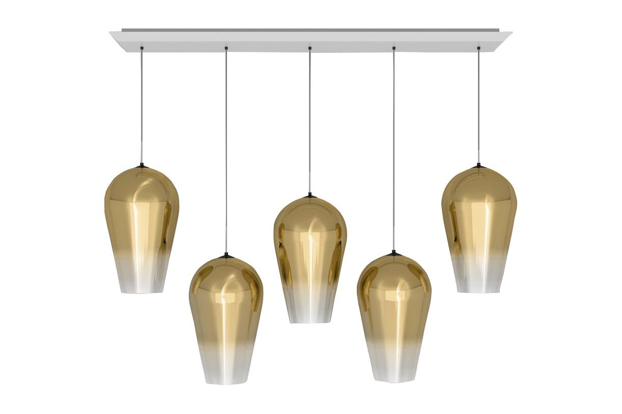Fade Linear Pendant System Gold