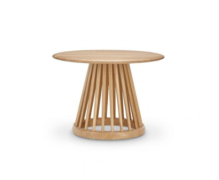 Fan Table Natural Base, Natural Oak Top, 60cm
