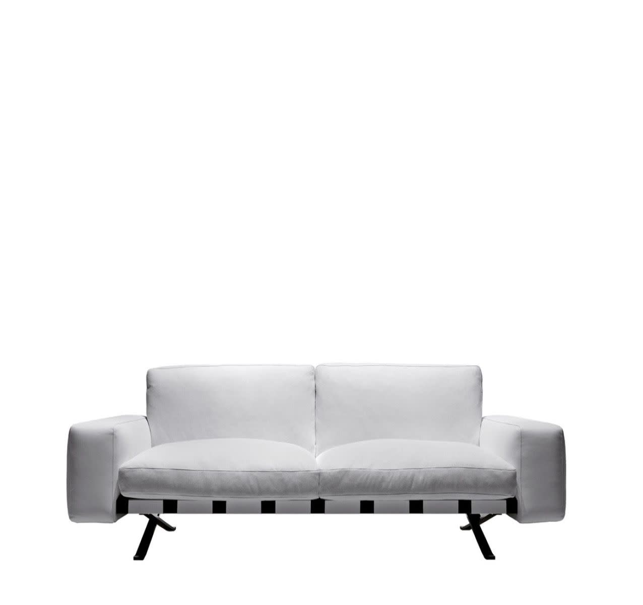 Fenix 2 - Two-Seater Sofa Colorado - Arancio 307, Cairo - Bianco 01