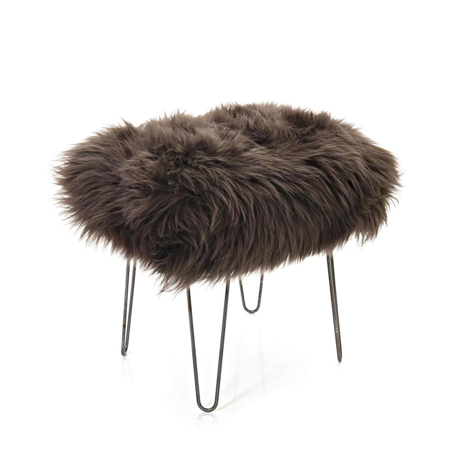 Ffion - Sheepskin Footstool Mink