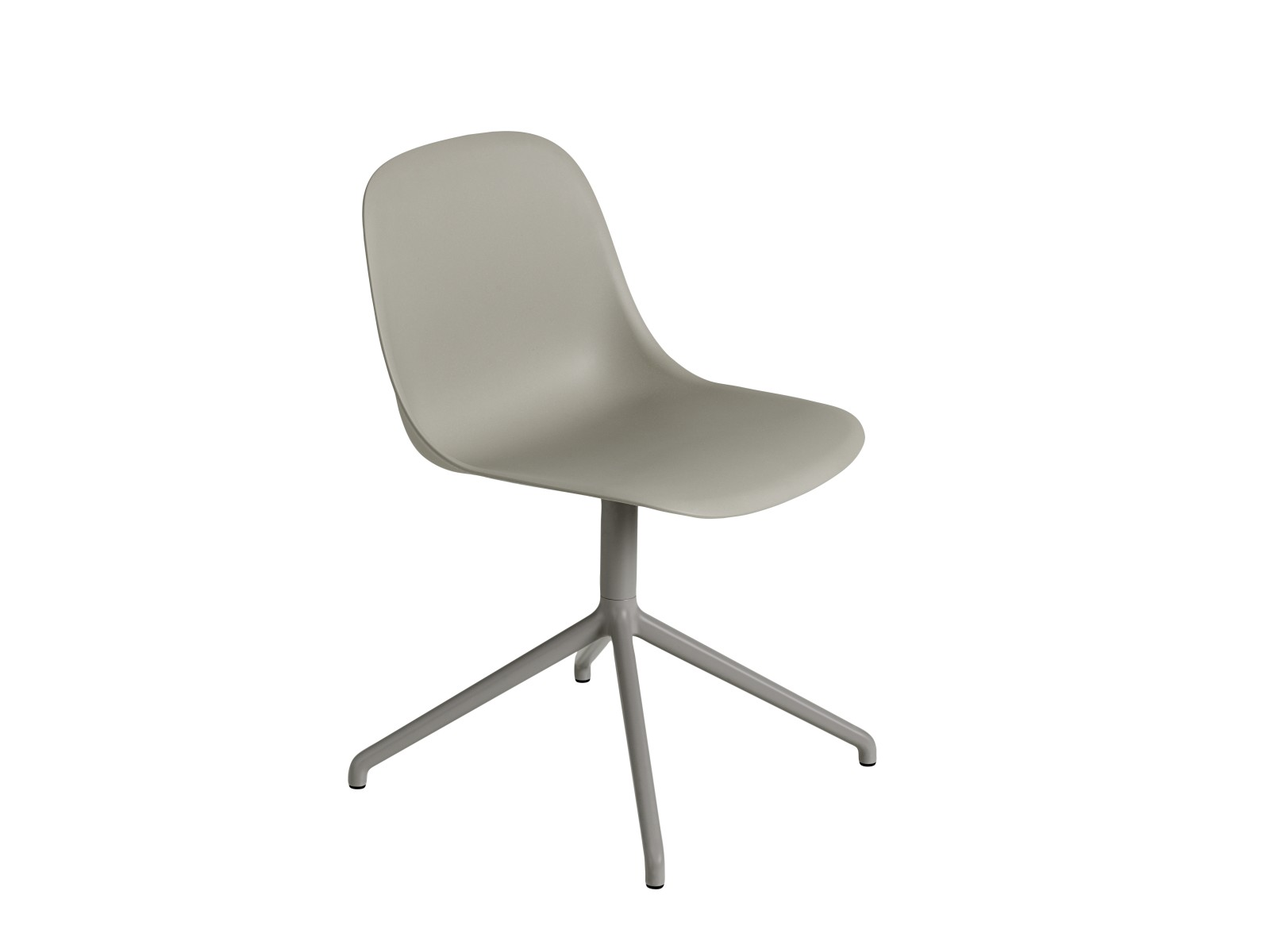 Fiber Side Swivel Chair Without Return - Non Upholstered Grey / Grey