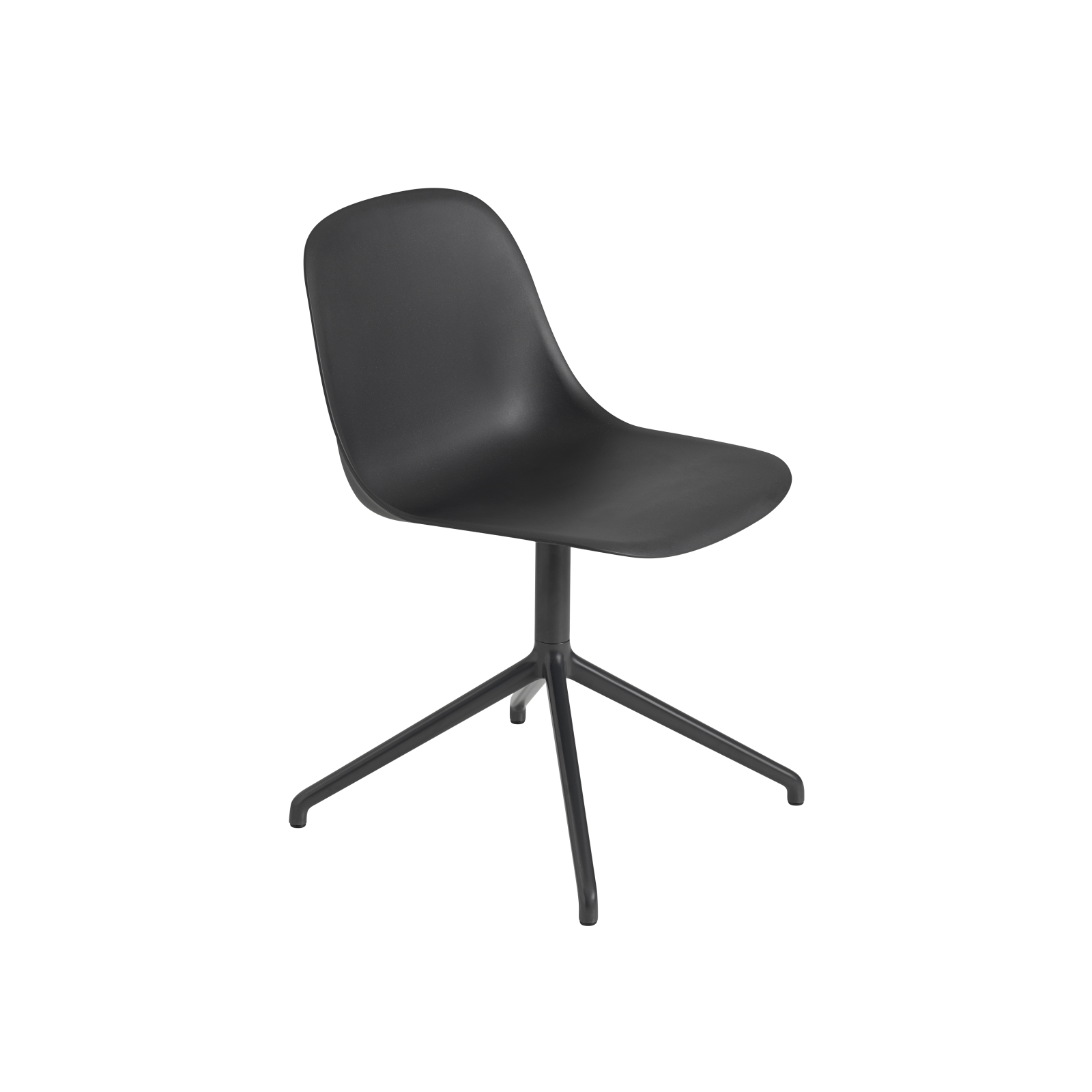 Fiber Side Swivel Chair Without Return - Non Upholstered Black / Black