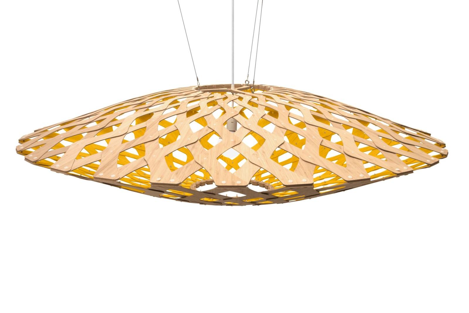 Flax Pendant Light Yellow, 150
