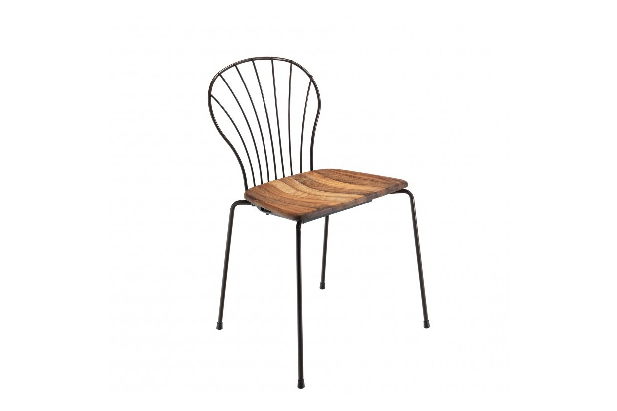 Flint 535-B Chair Iroko, RAL 9005