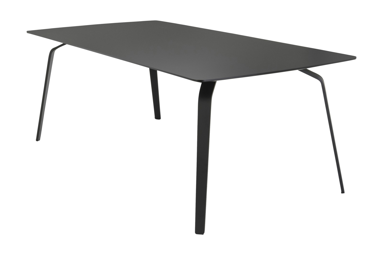 Float Dining Table Black Linoleum, 168cm