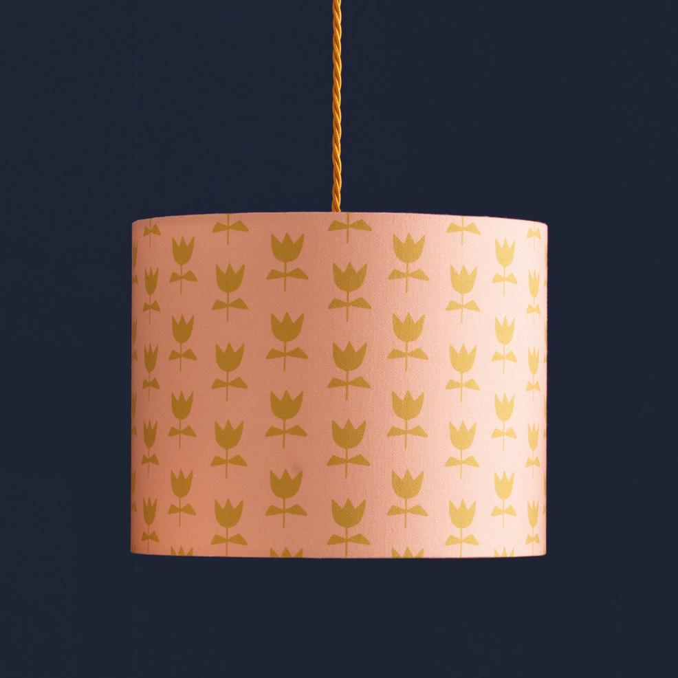 Flora Lampshade (Blush) Table Fitting