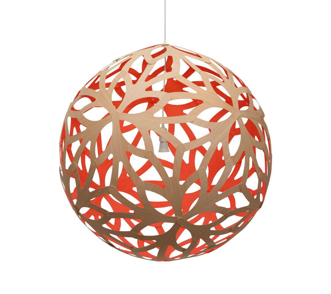 Floral Pendant Light Red, 80cm