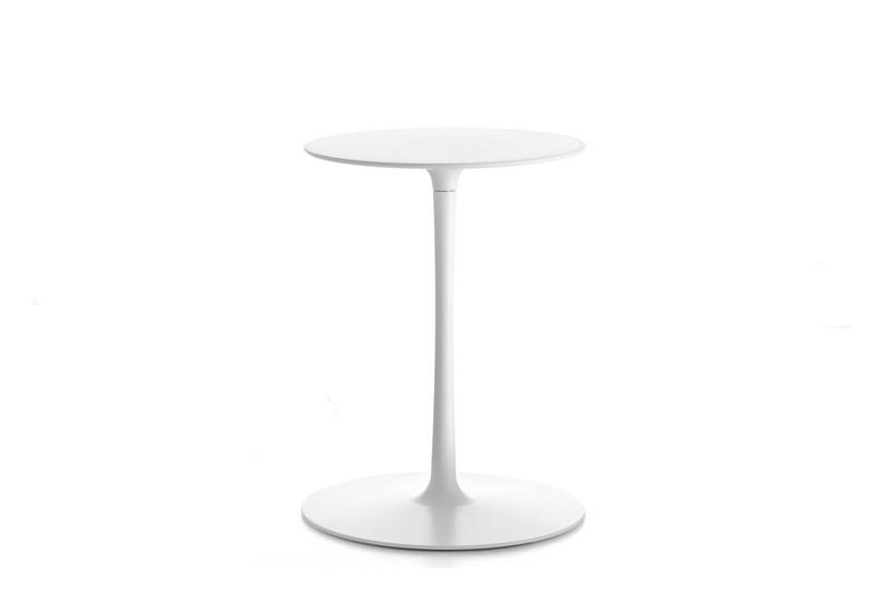Flow Low Table Cristalplant White Top & Matt White Frame, 70cm