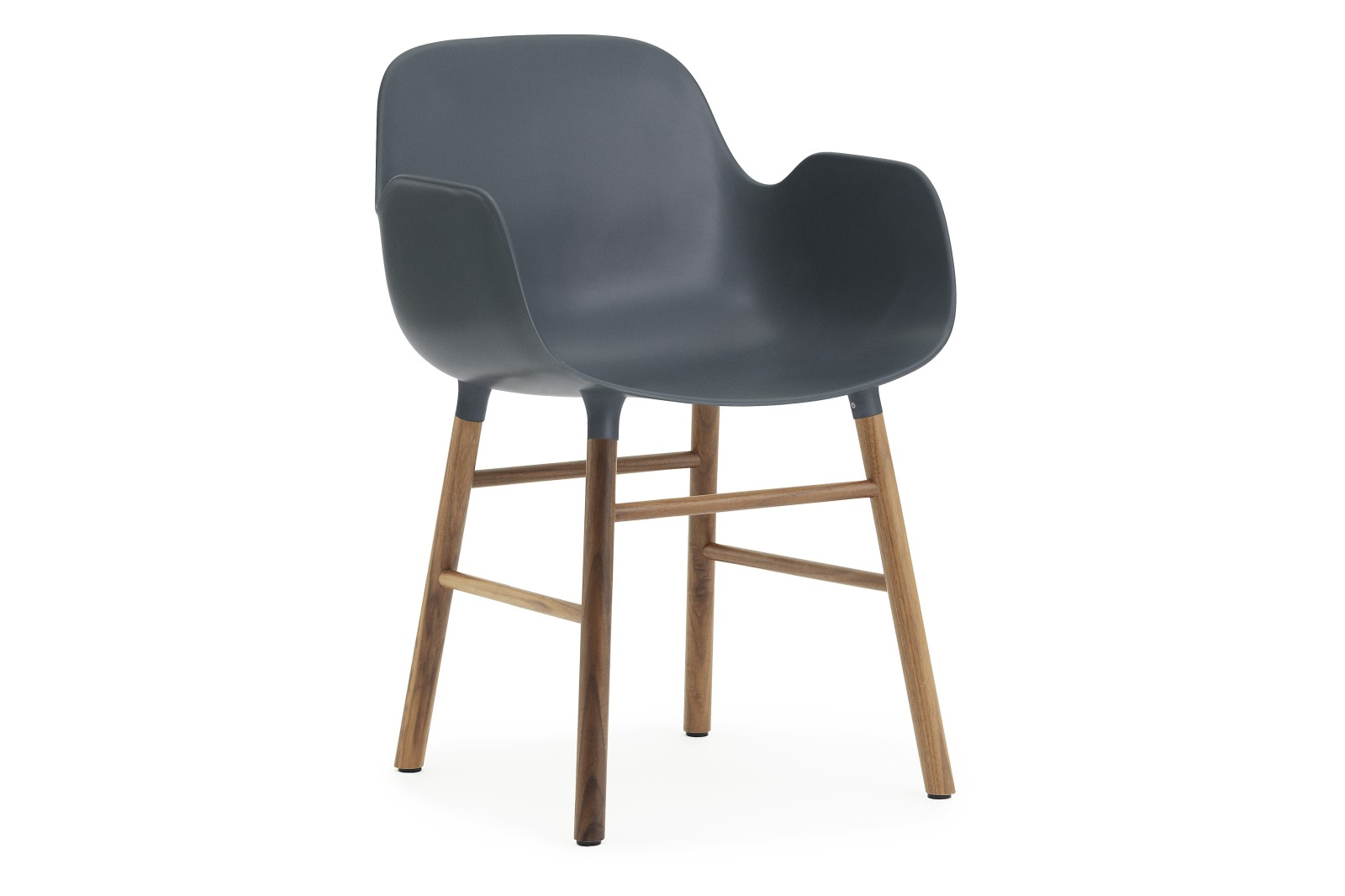 Form Armchair Blue, NC Walnut