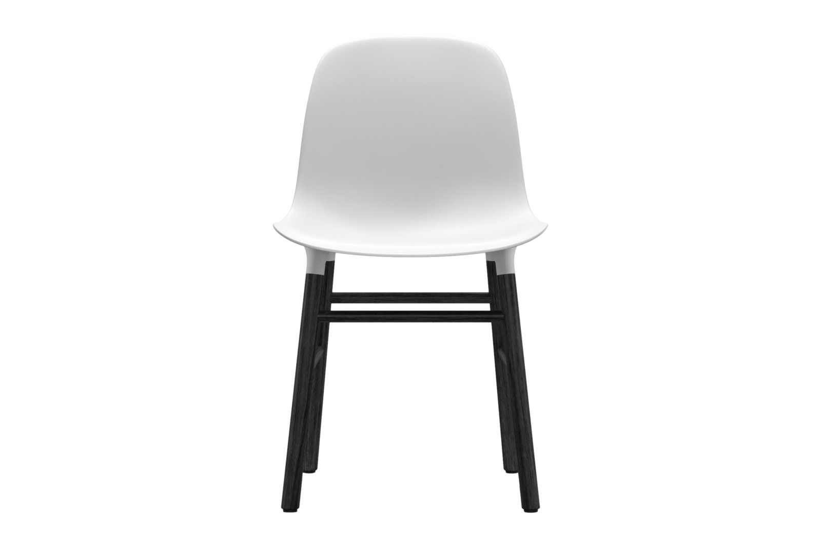 Form Dining Chair NC Black Lacquered Wood, White