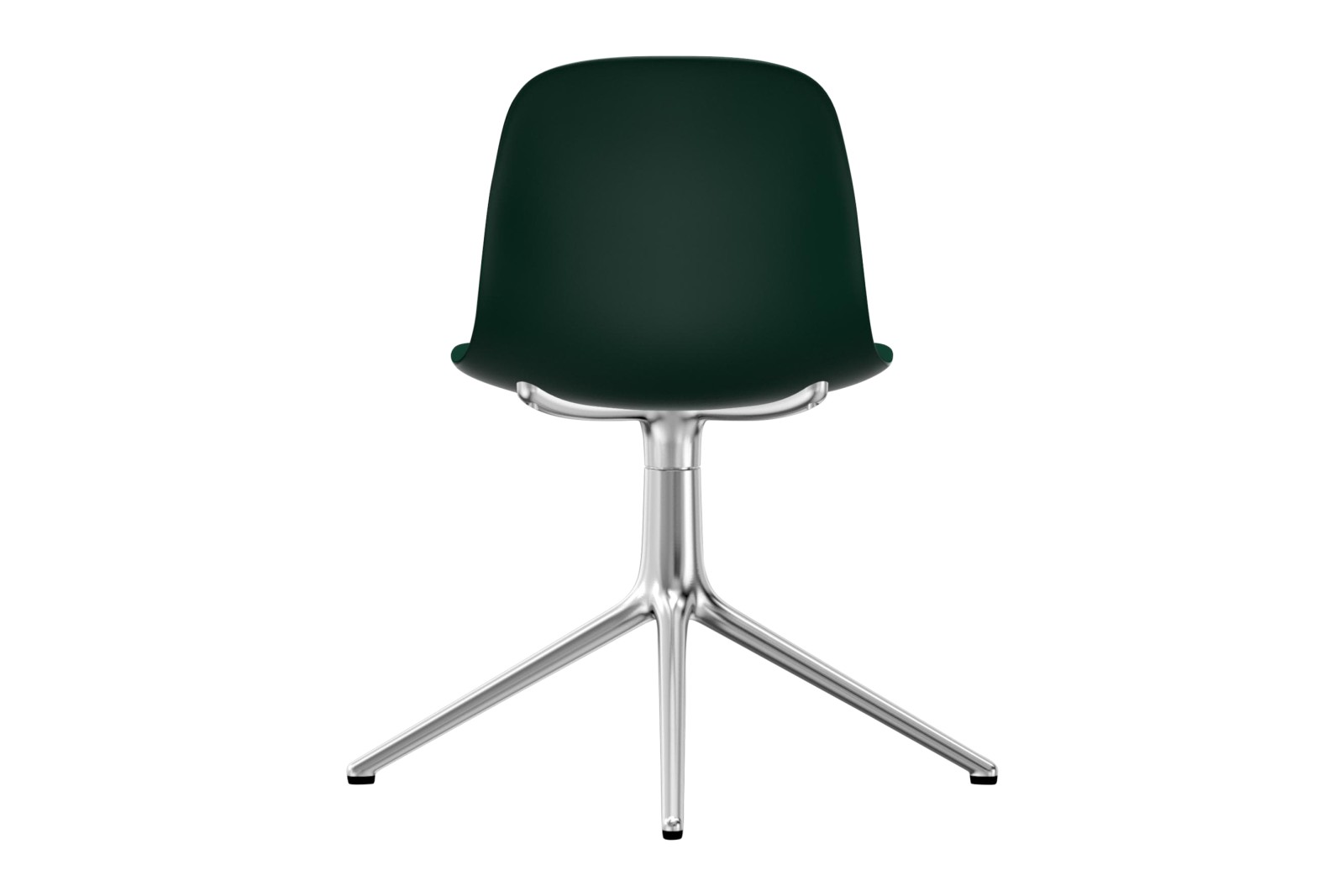 Form Swivel Chair 4L NC Aluminium, Green