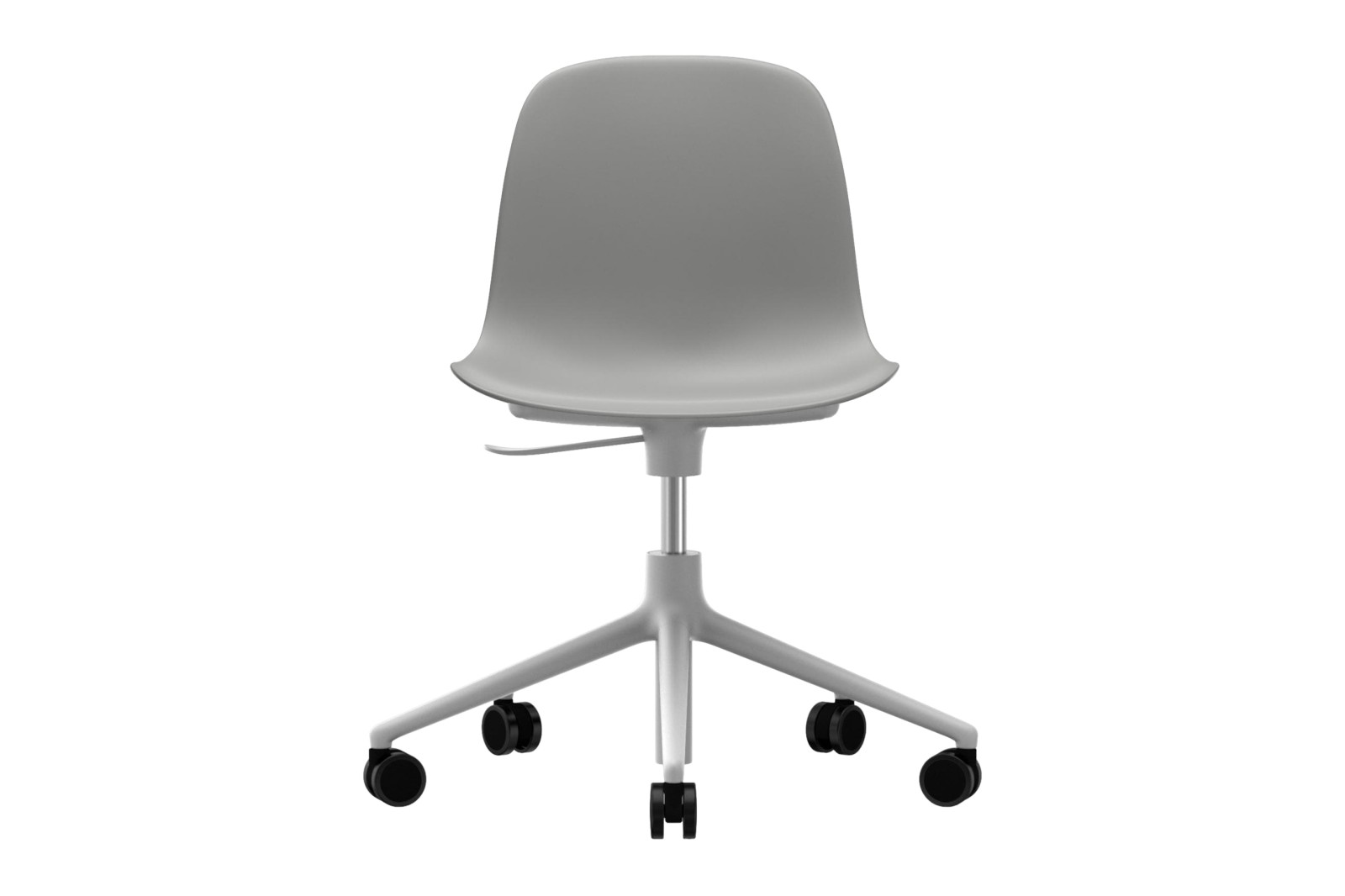 Form Swivel Chair 5W Gaslift NC White Aluminium, Grey