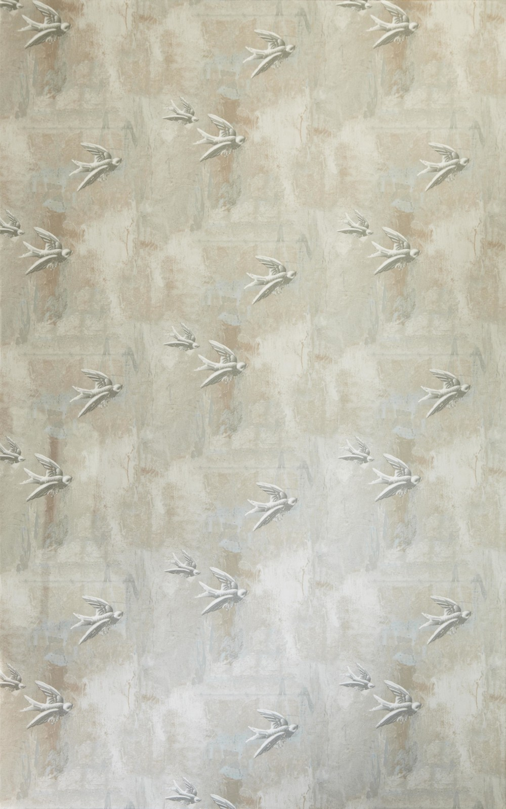 Fresco Birds Wallpaper Natural