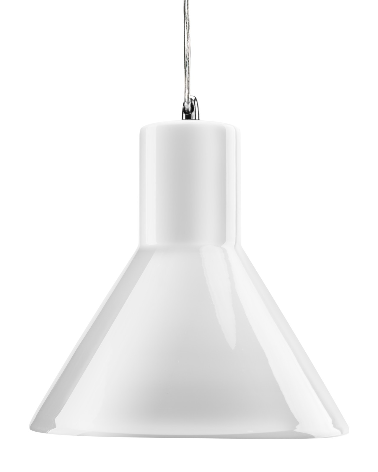 Funnel Pendant Lamp Gloss White Funnel Pendant Lamp