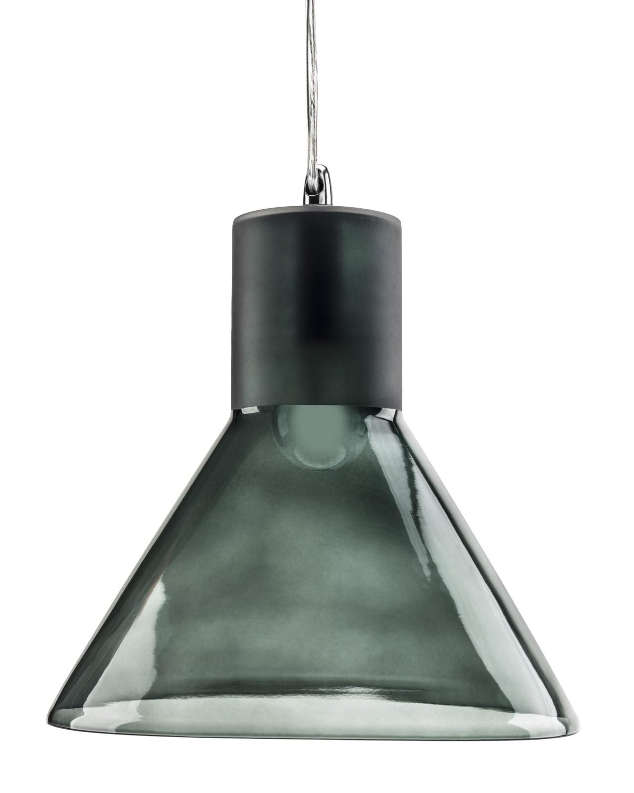 Funnel Pendant Lamp Grey Blue tint Funnel Pendant Lamp