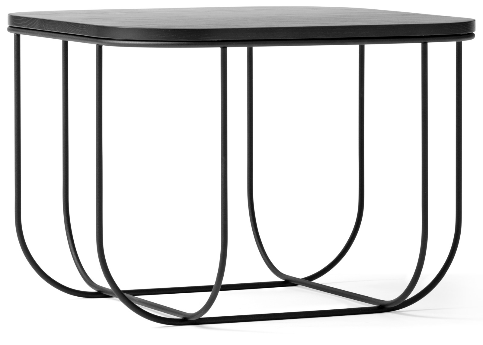 Fuwl Cage Side Table Black/Black Ash