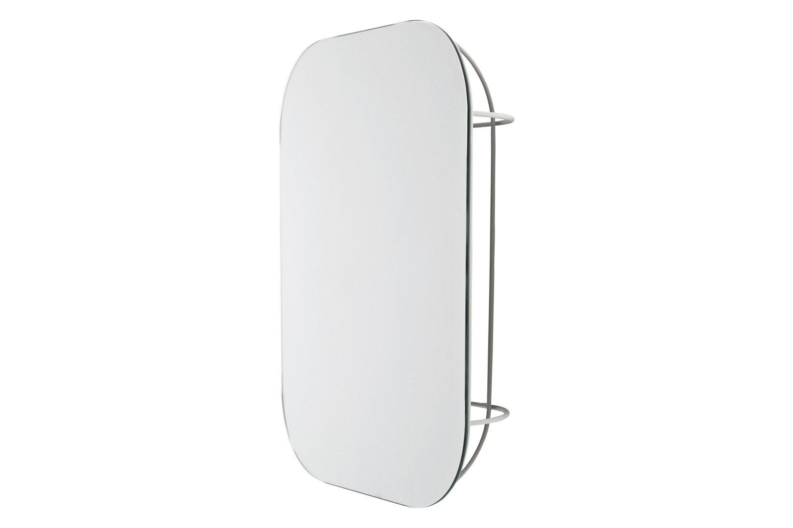 FUWL Cage Wall Mirror White