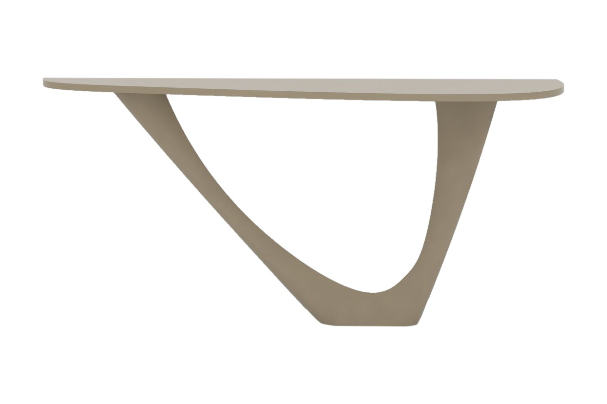 G-Console Mono Table with Powder Coated Top and Base RAL 1019