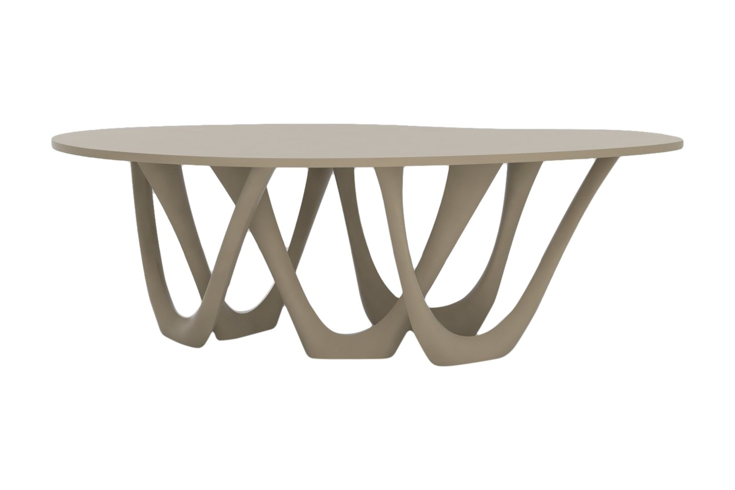 G-Table with Powder Coated Top and Base RAL 1019, Steel