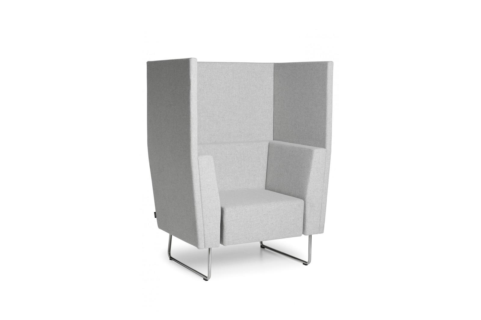 Gap Meeting Easy Chair White Steel, Main Line Flax Newbury