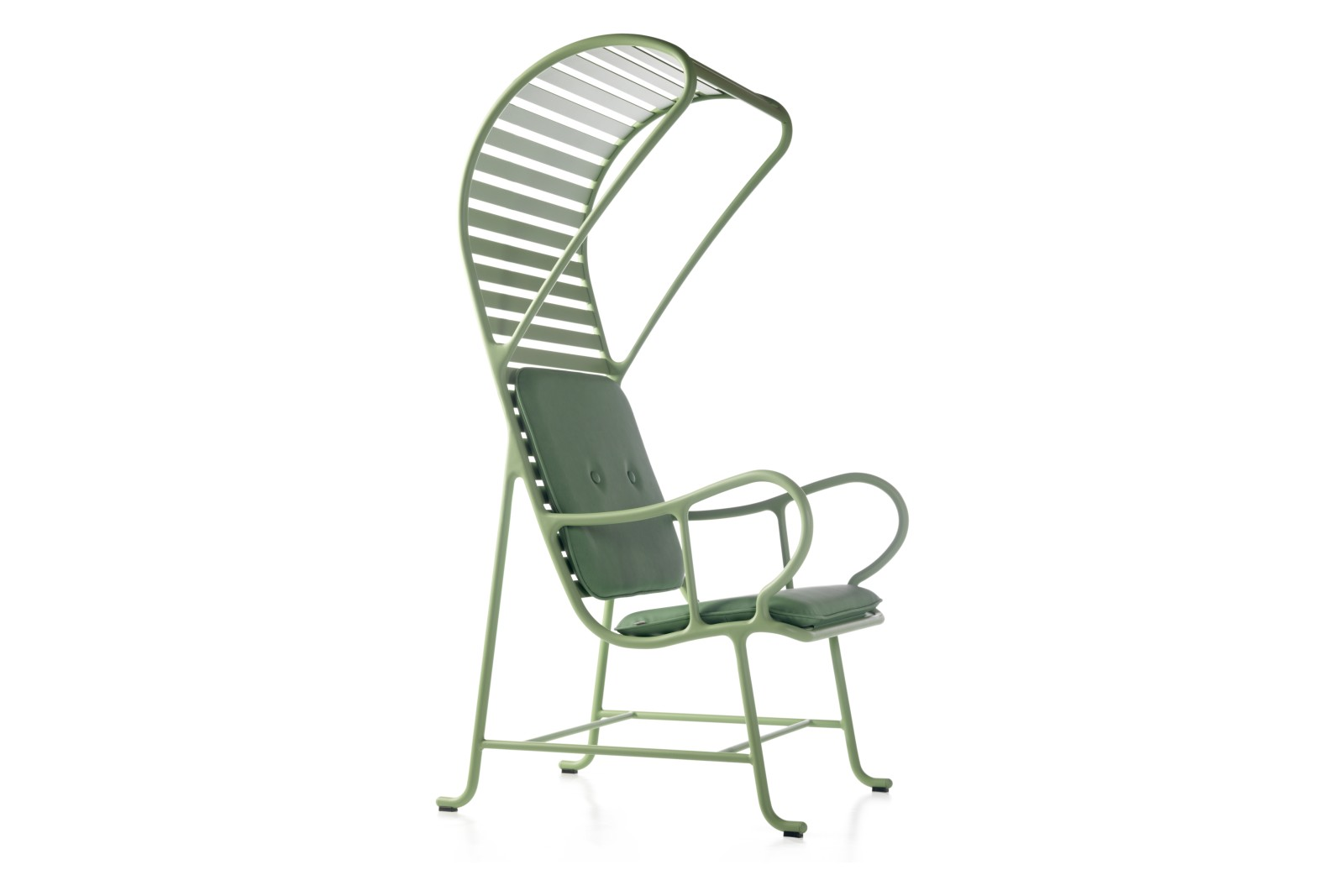 Gardenias Armchair with Pergola - Outdoor, Set of 2 Gamma Green G03
