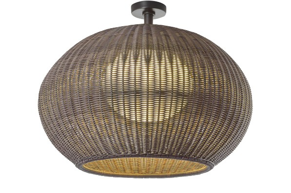 Garota PF/02 Outdoor Ceiling Light Brown Graphite, Brown Shade