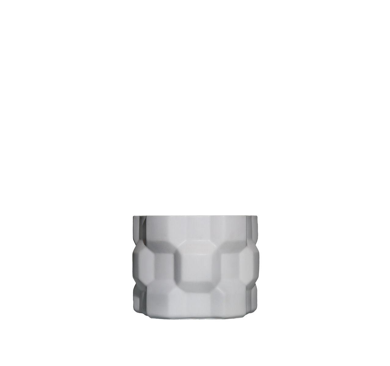Gear Vase Matt White, Glossy White