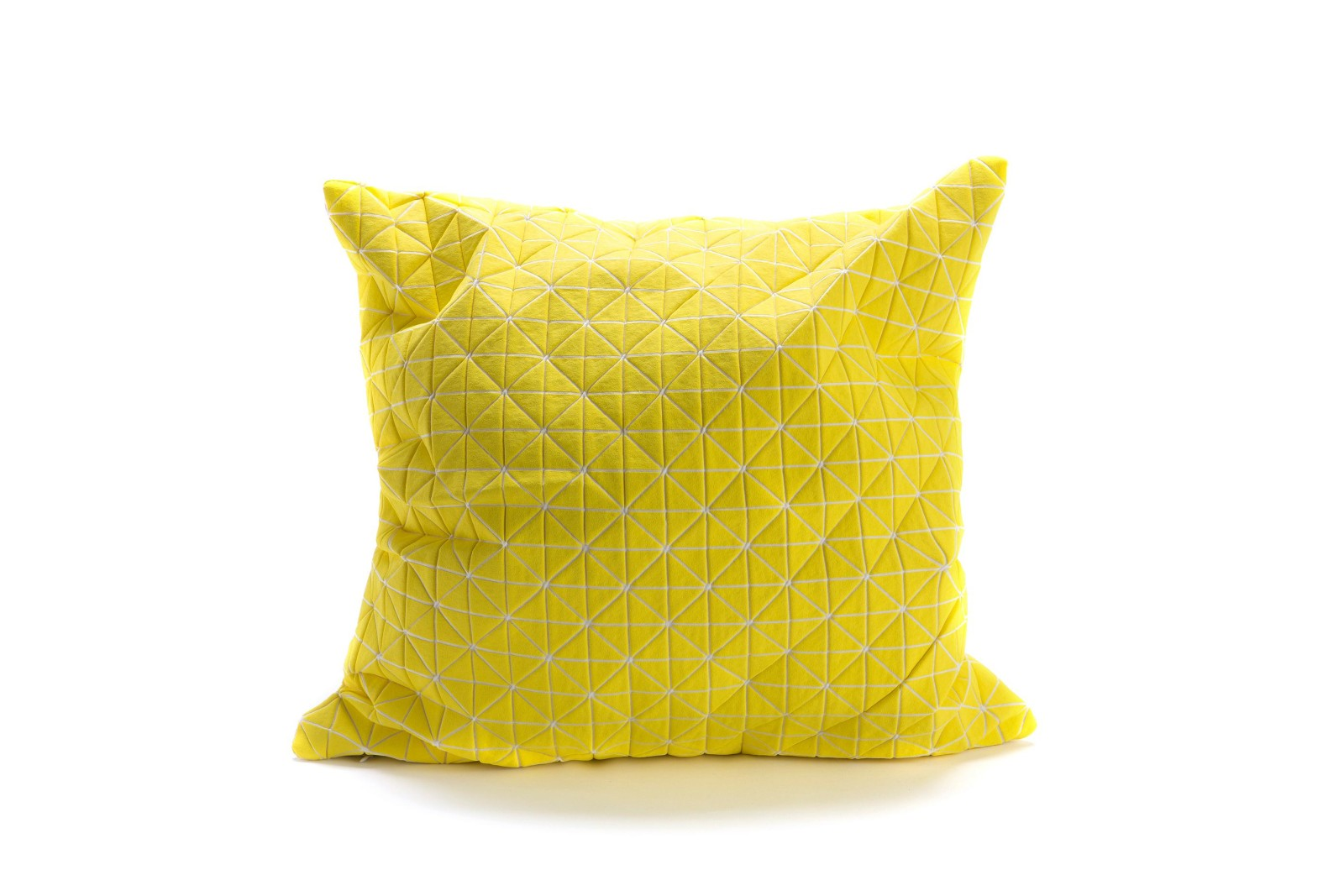 Geo Origami Square Cushion Cover Yellow