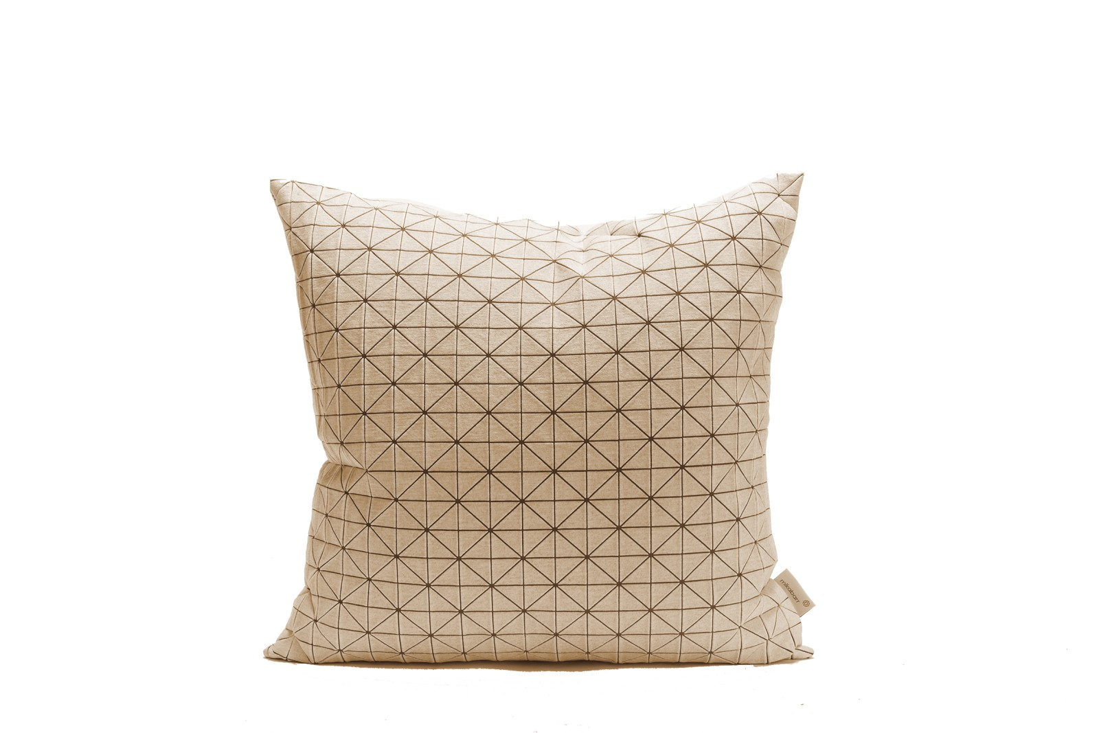 Geo Origami Square Cushion Cover White & Brown