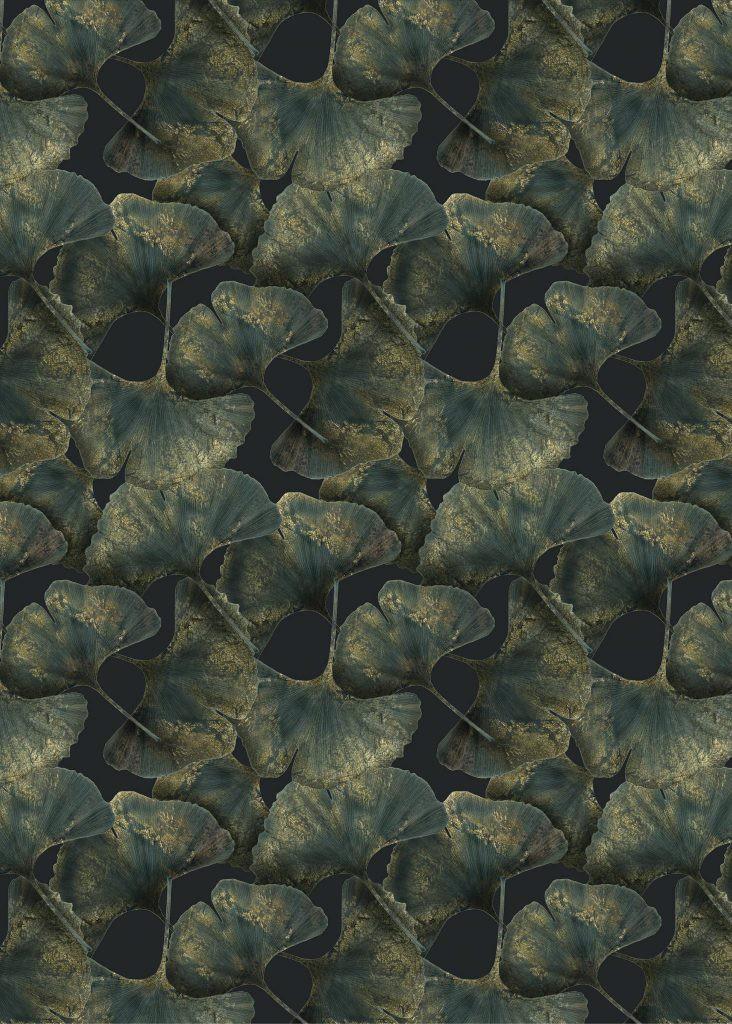 Ginko Leaf Rug, Rectangular Green, Polyamide, 300x400 cm