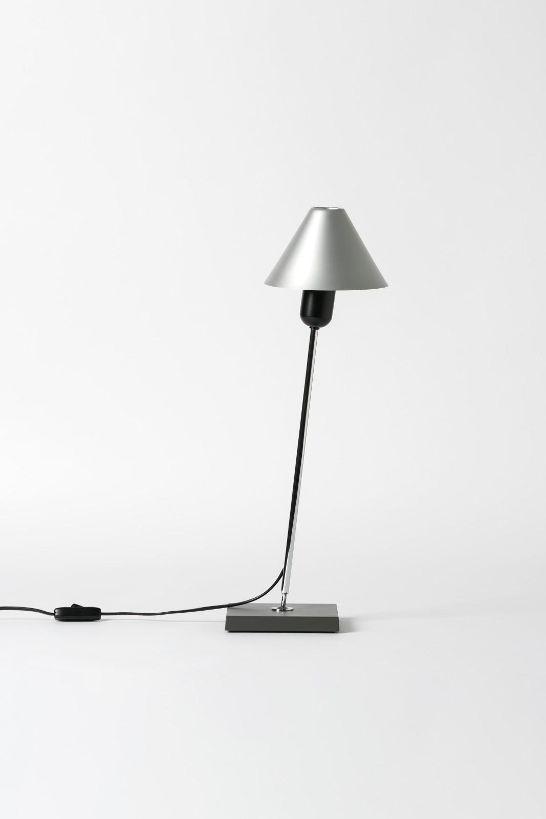 Gira Table Lamp Natural Anodized Aluminium