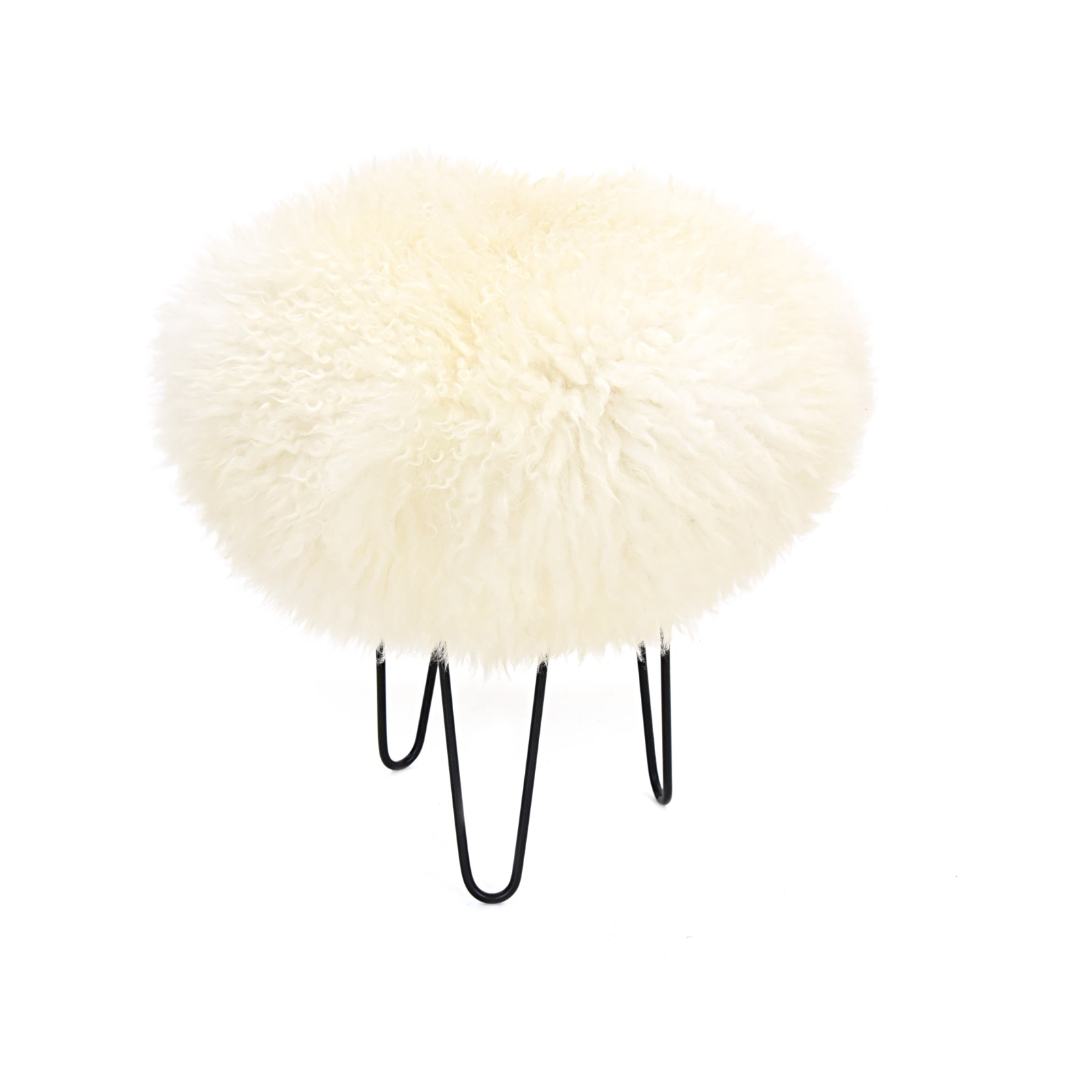 Gracie - Sheepskin Footstool Ivory