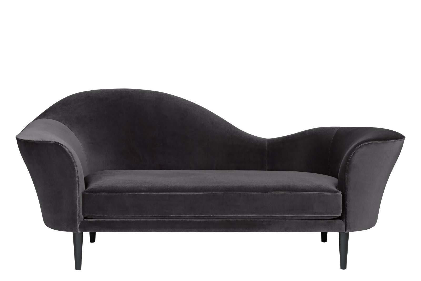 Grand Piano Sofa Price Grp. 03 CM6, Gubi Wood Black Stained Beech, Left
