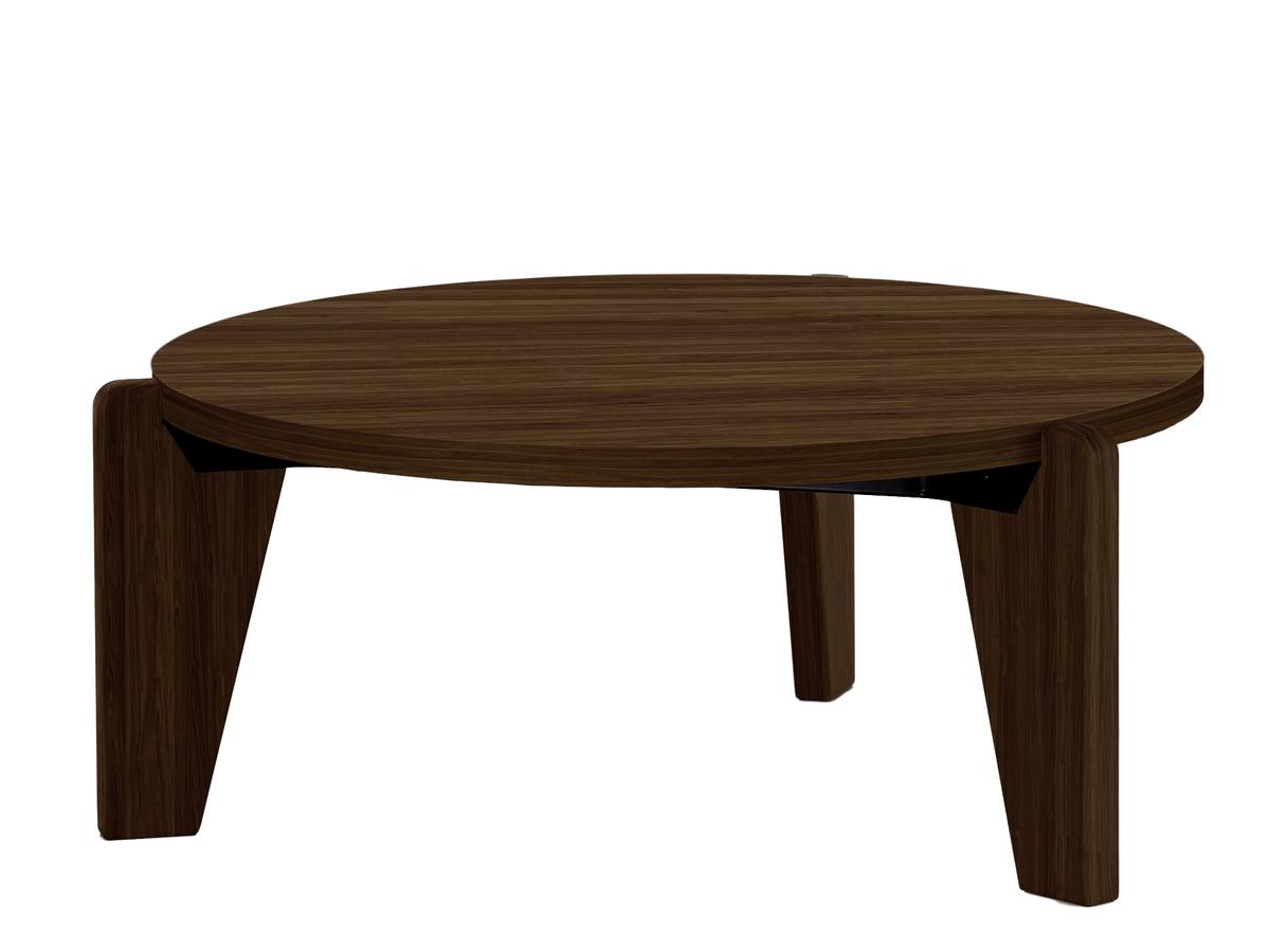 Guéridon Bas Coffee Table 75 Solid American - walnut oiled