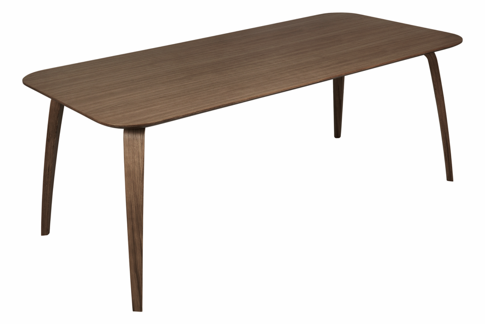 Gubi Rectangular Dining Table Gubi Wood American Walnut, 100 x 200cm