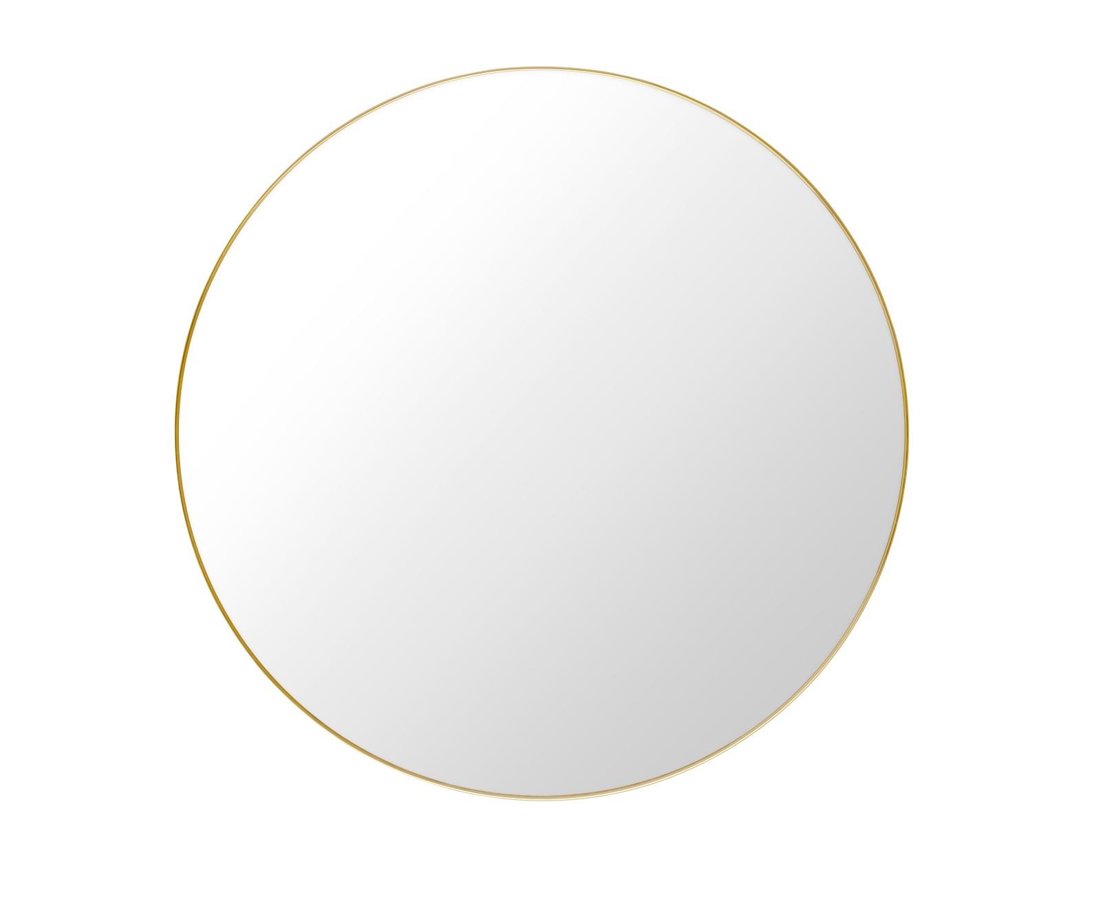 Gubi Round Mirror Polished Brass